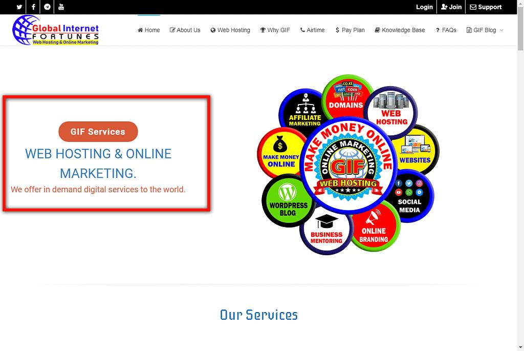 Global Internet Fortunes Web Hosting