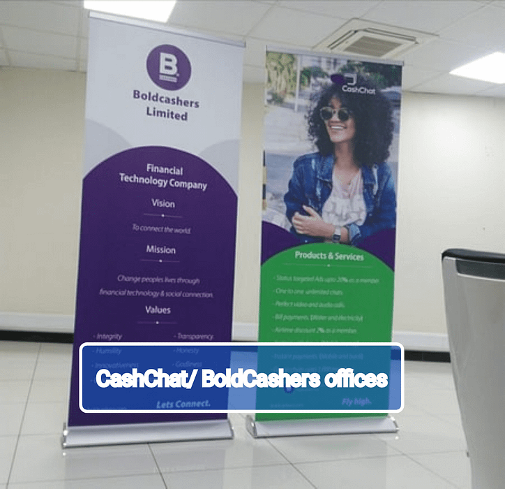 Boldcashers and Cashchat offices in Kenya