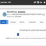WordPress installed