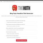 Generating headlines ideas using the Hoth Tool