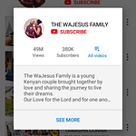kambi wajesus youtube channel and how he makes money from youtube