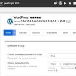 Entering WordPress Installation details